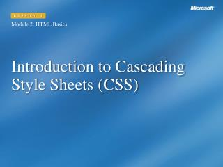 Introduction to Cascading Style Sheets (CSS)