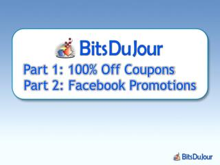 Part 1: 100% Off Coupons