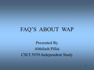 FAQ'S  ABOUT  WAP