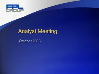 Analyst Meeting