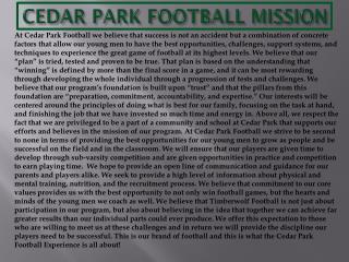 CEDAR PARK FOOTBALL MISSION