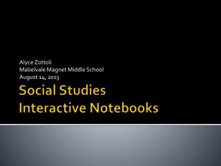 Social Studies Interactive Notebooks