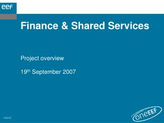 Finance & Shared Services