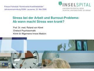Stress bei der Arbeit und Burnout-Probleme: Ab wann macht Stress wen krank
