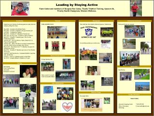 Leading by Staying Active