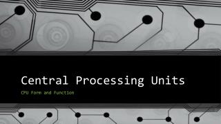 Central Processing Units