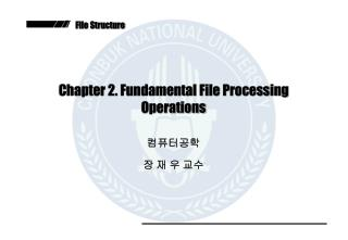 Chapter 2. Fundamental File Processing Operations