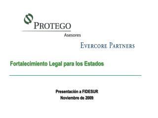 Presentación a FIDESUR Noviembre de 2009