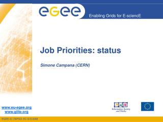 Job Priorities: status