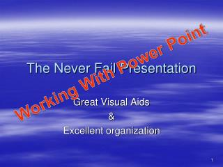 The Never Fail Presentation