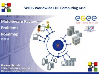 WLCG Worldwide LHC Computing Grid