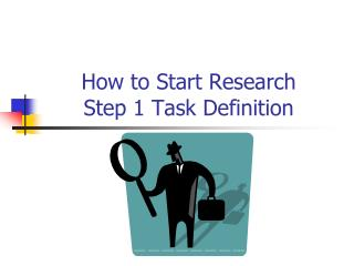 How to Start Research  Step 1 Task Definition