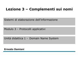 Nomi DNS  (1)