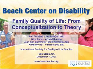 Family Quality of Life: From Conceptualization to Theory