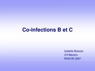 Co-infections B et C
