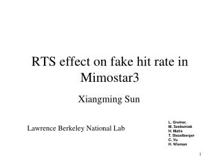 RTS effect on fake hit rate in Mimostar3
