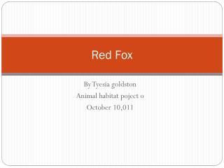 R ed Fox