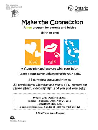 A  free program for parents and babies  (birth to one)