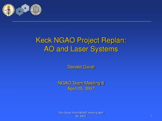 Keck NGAO Project Replan: AO and Laser Systems