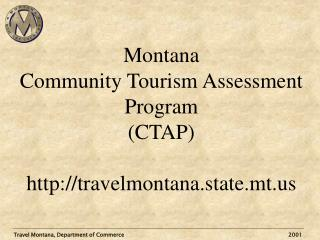 Travel Montana, Department of Commerce