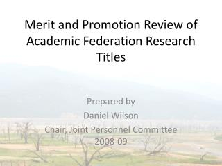 Merit and Promotion Review of Academic Federation Research Titles