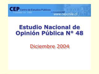 Estudio Nacional de  Opinión Pública N° 48