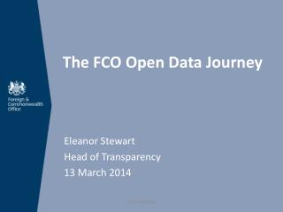 The FCO Open Data Journey
