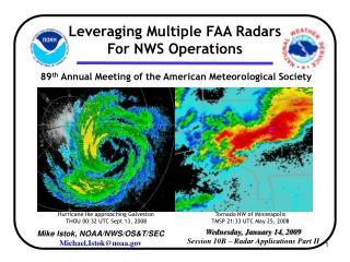 Wednesday, January 14, 2009 Session 10B – Radar Applications Part II