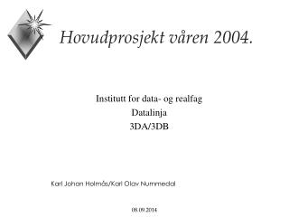 Hovudprosjekt våren 2004.