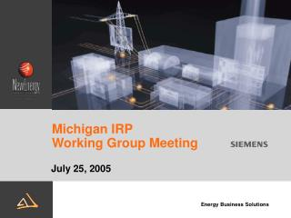 Michigan IRP  Working Group Meeting