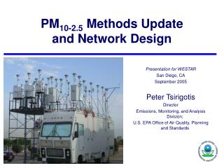 PM 10-2.5  Methods Update and Network Design