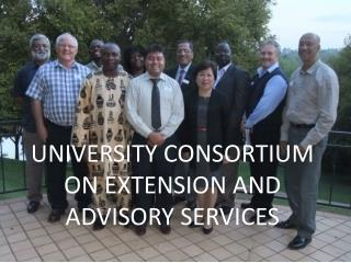 UNIVERSITY CONSORTIUM ON EXTENSION AND ADVISORY SERVICES