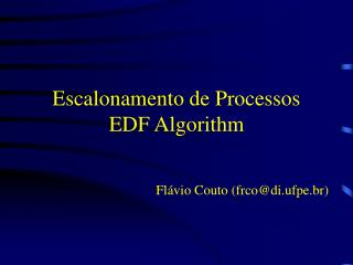 Escalonamento de Processos EDF Algorithm