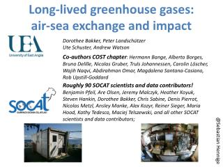Long-lived greenhouse gases:  air-sea exchange and impact