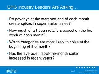 CPG Industry Leaders Are Asking…