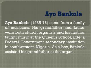 Ayo  Bankole