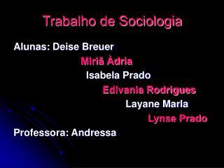 Trabalho de Sociologia