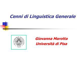 Cenni di Linguistica Generale