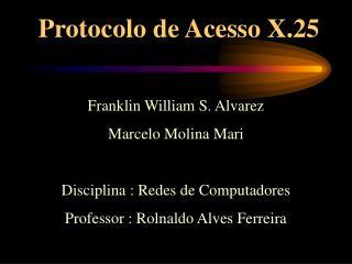 Protocolo de Acesso X.25