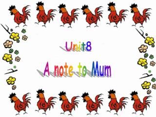 A note to Mum