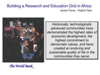 Building a Research and Education Grid in Africa