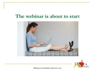 The webinar is about to start