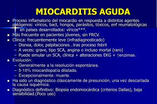 MIOCARDITIS AGUDA
