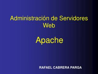 Administración de Servidores Web