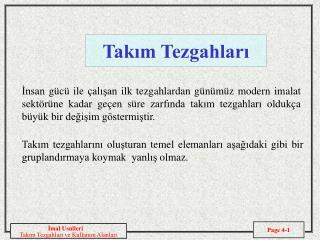 Takim Tezgahlari