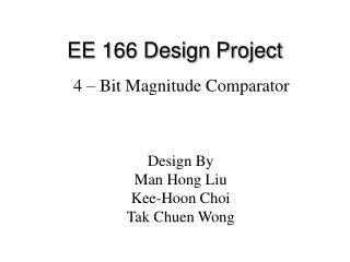 EE 166 Design Project