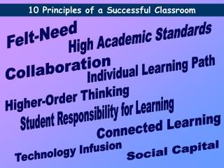 10 Principles of a Successful Classroom