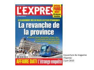 Couverture du magazine  l'Express 2 juin 2010