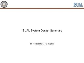 ISUAL System Design Summary
