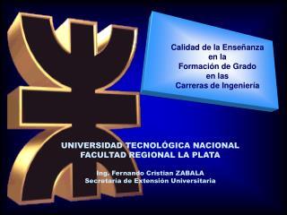 Calidad de la Enseñanza en la Formación de Grado en las  Carreras de Ingeniería
